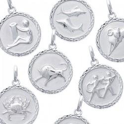 Pendentif Signes du Zodiaque Médaille Argent