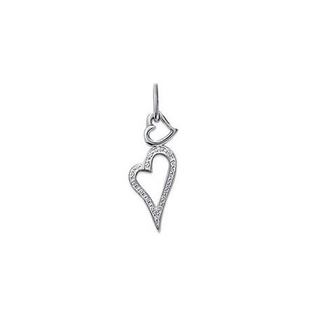 Pendentif coeur en Argent 925°°° et Zirconias