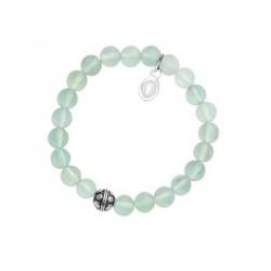 Bracelet Femme en Jade vert et Acier inoxydable 316L