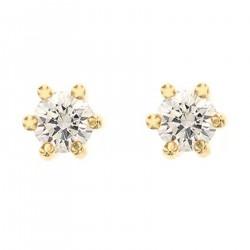 Boucles d'oreilles Clou Plaqué Or 18 carats et Swarovski® Zirconia