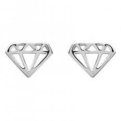 Boucles d'oreilles Diamant en Argent 925 rhodié