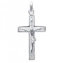 Pendentif Croix Christ en Argent 925