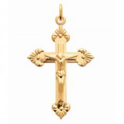 Pendentif Croix Christ Plaqué or 18 carats