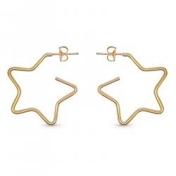 Boucles d'oreilles étoile Plaqué Or 18 carats