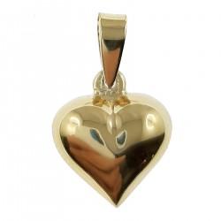 Pendentif Coeur Plaqué or 18 carats
