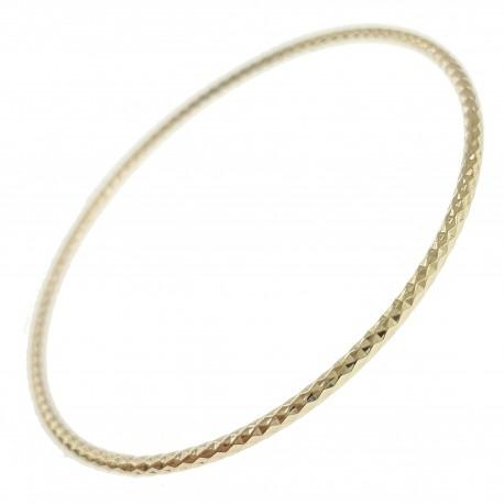 Bracelet jonc facetté Plaqué Or 18 carats