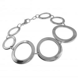 Bracelet 7 Anneaux en Acier Inoxydable