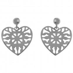 Boucles d'oreilles Coeur en Argent 925