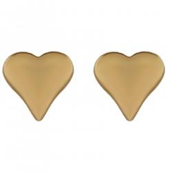 Boucles d'oreilles Coeur Plaqué Or 18 carats