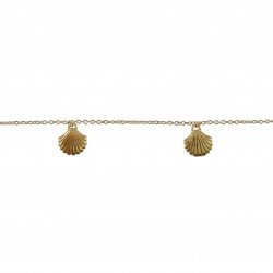 Bracelet de cheville Coquillages Plaqué Or 18 carats
