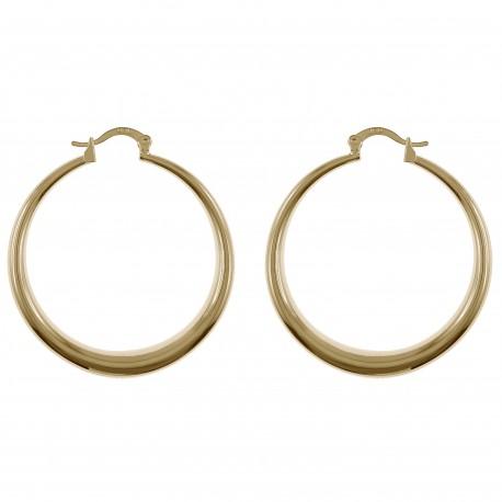 Boucles d'oreilles Créoles 40mm Plaqué Or 18 carats