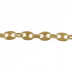 Collier Grain de café Plaqué Or 18 carats - Longueur 50cm