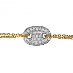 Bracelet Plaqué Or 18 carats et Oxydes Zirconium