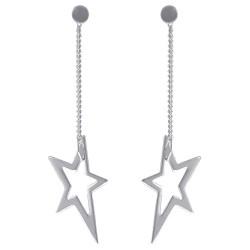 Boucles d'oreilles étoile en Argent 925 rhodié