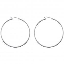Boucles d'oreilles Créoles 50mm en Argent 925