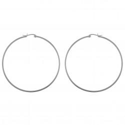 Boucles d'oreilles Créoles 70mm en Argent 925