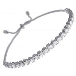 Bracelet en Argent 925 rhodié et Swarovski® Zirconias