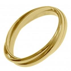 Bague 3 anneaux Plaqué Or