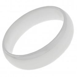 Bague en Céramique blanche 6mm