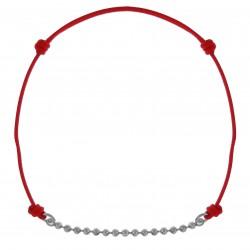 Bracelet en Argent 925 et cordon rouge