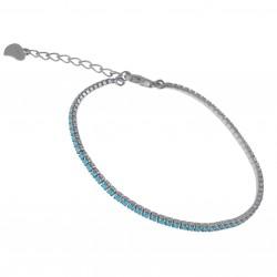 Bracelet 18cm en Argent 925 et Turquoise synthétique
