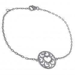 Bracelet Coeur en Argent 925