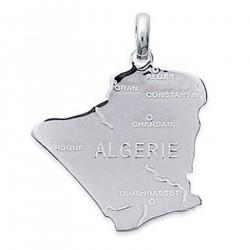 Pendentif carte Algérie en Argent 925