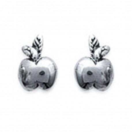 Boucles d'oreilles Pomme en Argent 925°°°